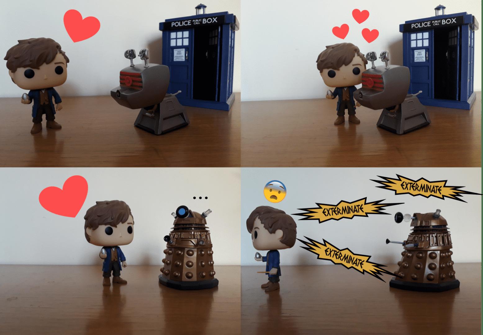 EPISODIO III. Dalek fantastici e... forse sarebbe meglio non trovarli! La guest star della settimana è, ovviamente, Newt Scamander!