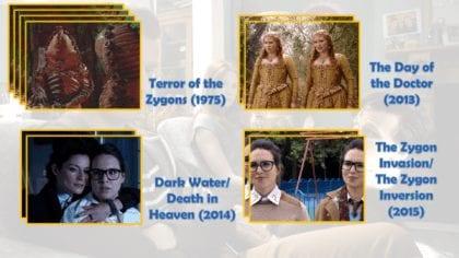"""Gli Zygon occupano un posto ridotto eppure rilevante nella storia di Doctor Who, essendo apparsi anche nel cinquantenario della serie. Non sapendo quale Osgood sia umana, e quale Zygon - come da sua volontà - abbiamo incluso anche gli episodi non """"Zygon centrici"""" in cui appare la nostra Petronella."""