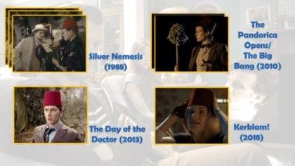 Fun Fact: contrariamente a quello che si pensa, il primo Dottore a indossare un fez non è l'Undicesimo... bensì il Settimo! Nel primo episodio (su 3) di Silver Nemesis, il Dottore ne trova uno e, dopo averlo messo sulla testa di Ace, lo prova lui stesso.