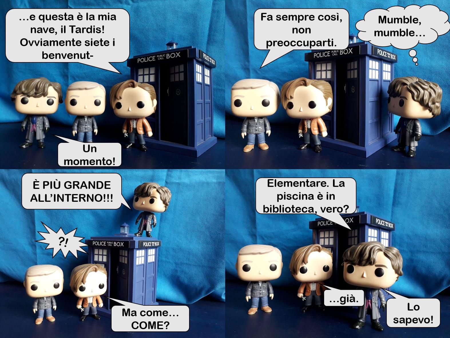 EPISODIO IX: Elementare, Watson! Un cross-over tra Sherlock e il Dottore!!!